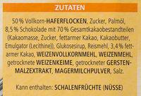 Vitalis Knusper Müsli Schoko feinherb - Ingrédients - de