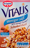 Vitalis Weniger süß Schoko Müsli - Product
