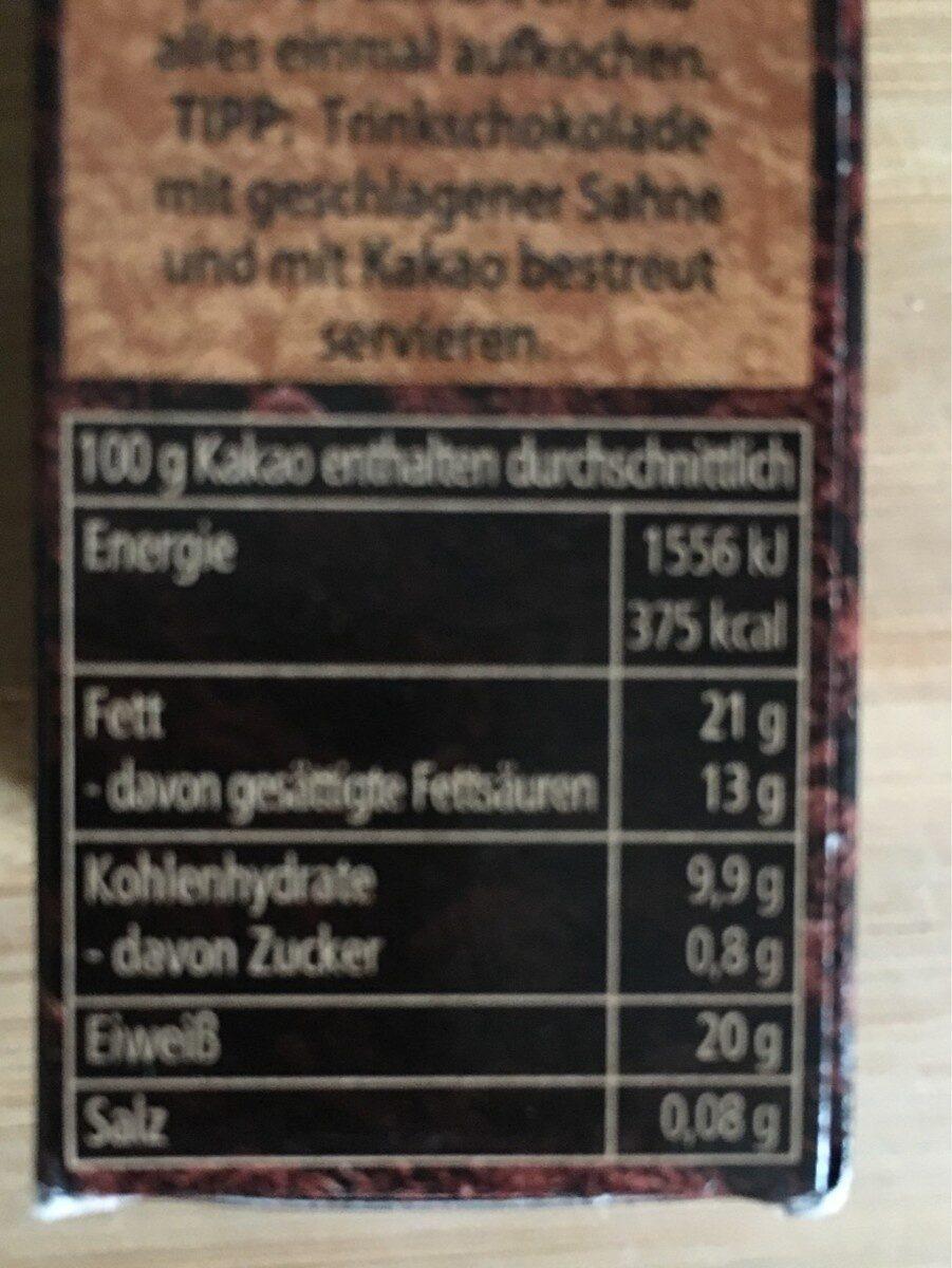 Kakao zum Backen - Informazioni nutrizionali - de
