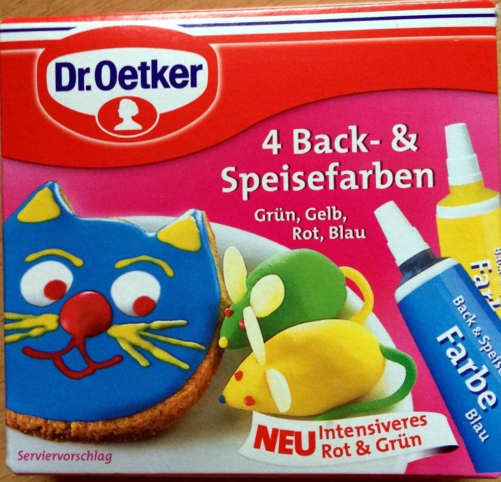 4 Back- & Speisefarben - Produit - de