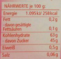 4 Back- & Speisefarben - Informations nutritionnelles - de