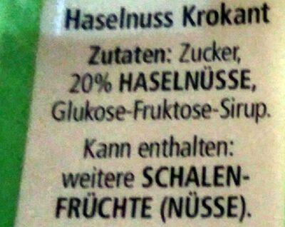 Haselnuss Krokant - Ingredients - de