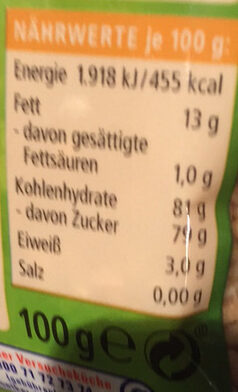 Haselnuss Krokant - Nutrition facts - de