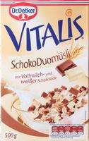 Vitalis SchokoDuomüsli mit Vollmilch- und weißer Schokolade - Product