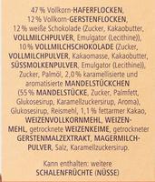 Vitalis SchokoDuomüsli mit Vollmilch- und weißer Schokolade - Ingredients