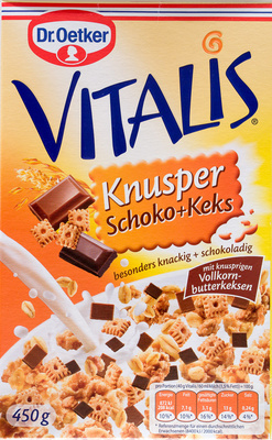 Vitalis Knusper Schoko+Keks - Produit - de