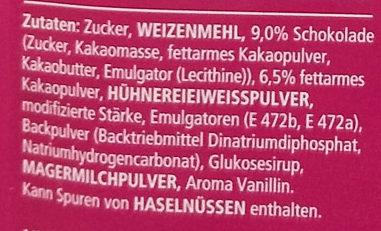 Tassen Küchlein Schoko - Ingredients