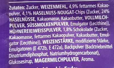 Tassen Küchlein Nougat - Ingredients