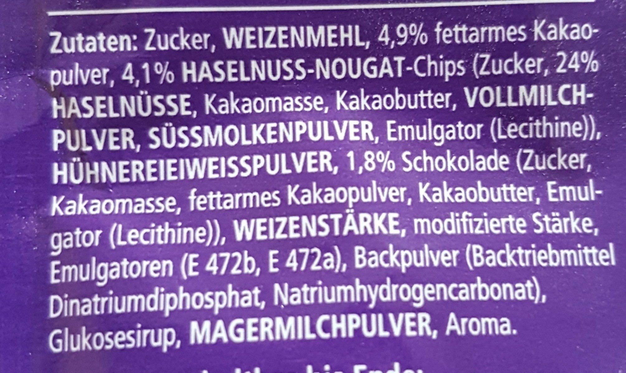 Tassen küchlein - Ingrédients - fr