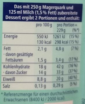 Trenddessert, Lemon Cheesecake - Voedingswaarden - de