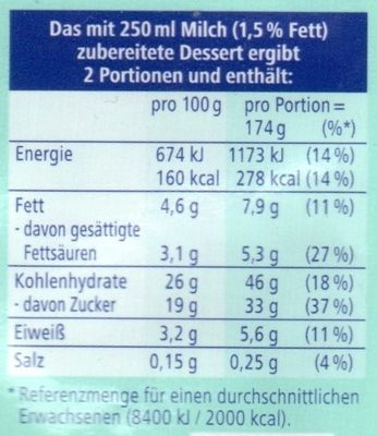 Puddingpulver Cookies & Crumbs - Nährwertangaben - de
