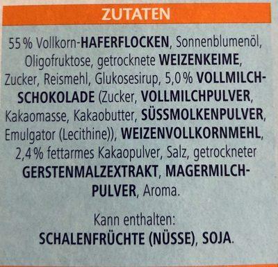 Knusper Schoko Weniger Süß - Ingredients