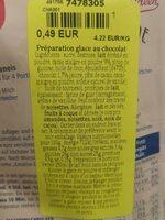 Pulver Schokoladeneis - Nutrition facts - de