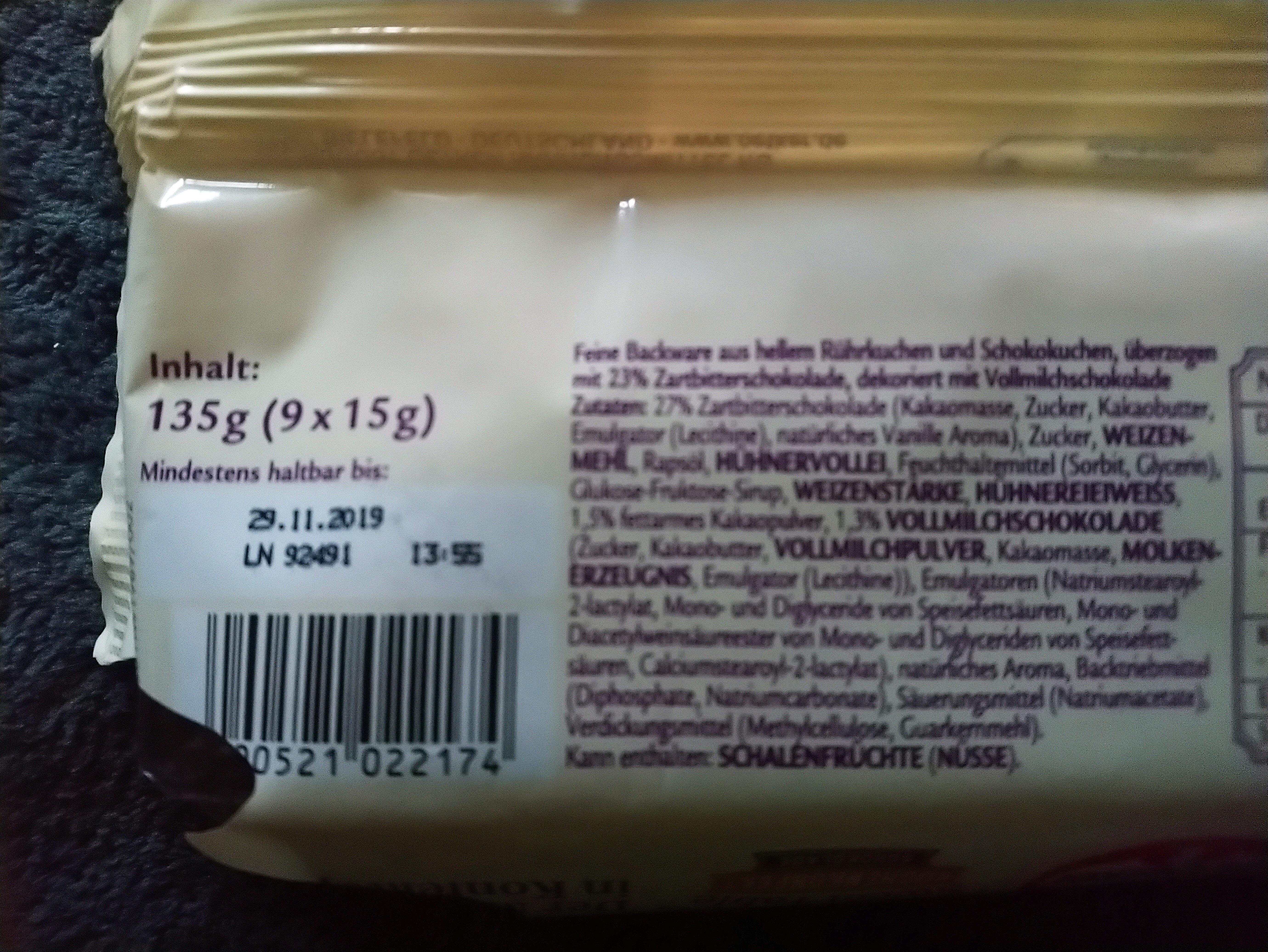 My Sweet Table Kuchenkonfekt Schokolade - Ingrediënten - de