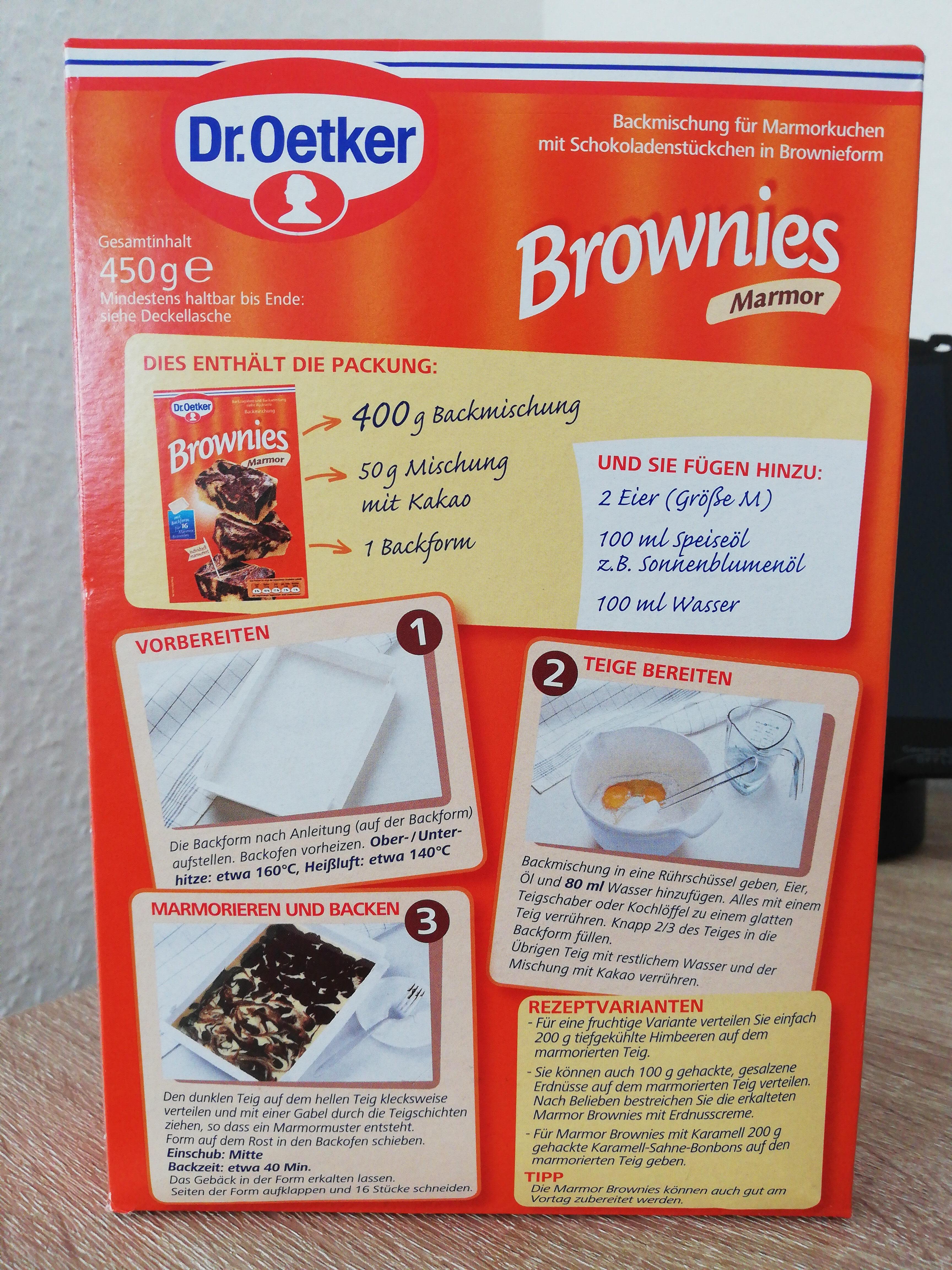 Brownies - Produit - de