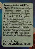 Schoko-Orangen Tarte - Inhaltsstoffe
