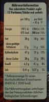 Schoko-Orangen Tarte - Nährwertangaben
