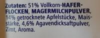 Apfel Zimt porridge - Ingrediënten