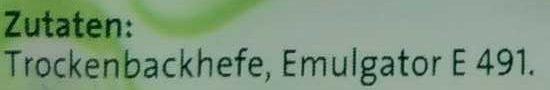 Hefe - Ingredients - de