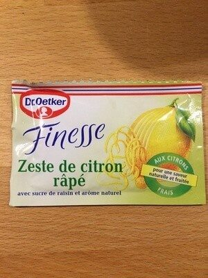Geriebene Zitronenschale - Produkt - de