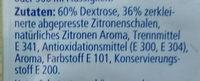 Geriebene Zitronenschale - Zutaten - de