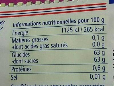 Geriebene Zitronenschale - Nährwertangaben - de