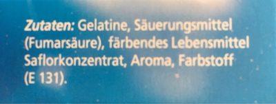 Götterspeise Waldmeister - Ingredients