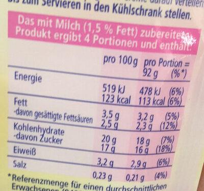 Paradiescreme weiße Schokolade - Voedingswaarden - de