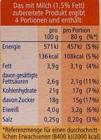 Tiramisu Creme - Nährwertangaben - de