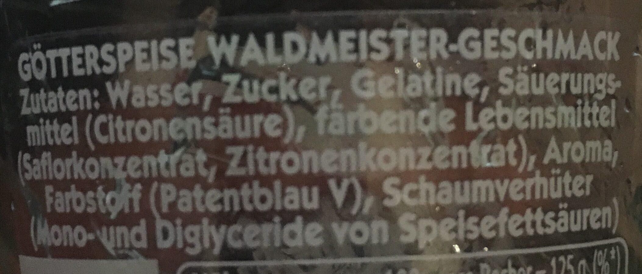 GötterSpeise - Ingredients - de