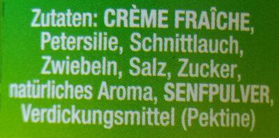 Creme fraiche mit frischen Kräutern - Ingrédients - de