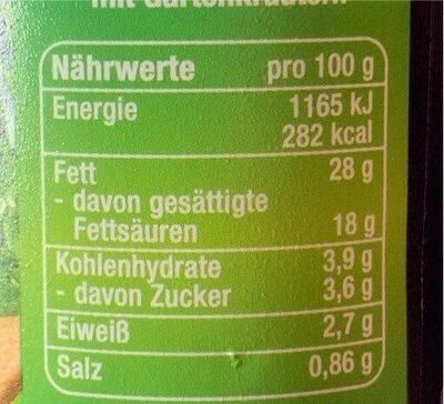Creme fraiche mit frischen Kräutern - Informations nutritionnelles - de