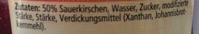 Kirsch Grütze - Ingredients - fr