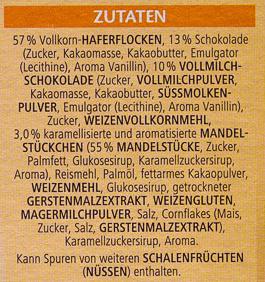 Vitalis Schoko Müsli klassisch - Ingredients - de