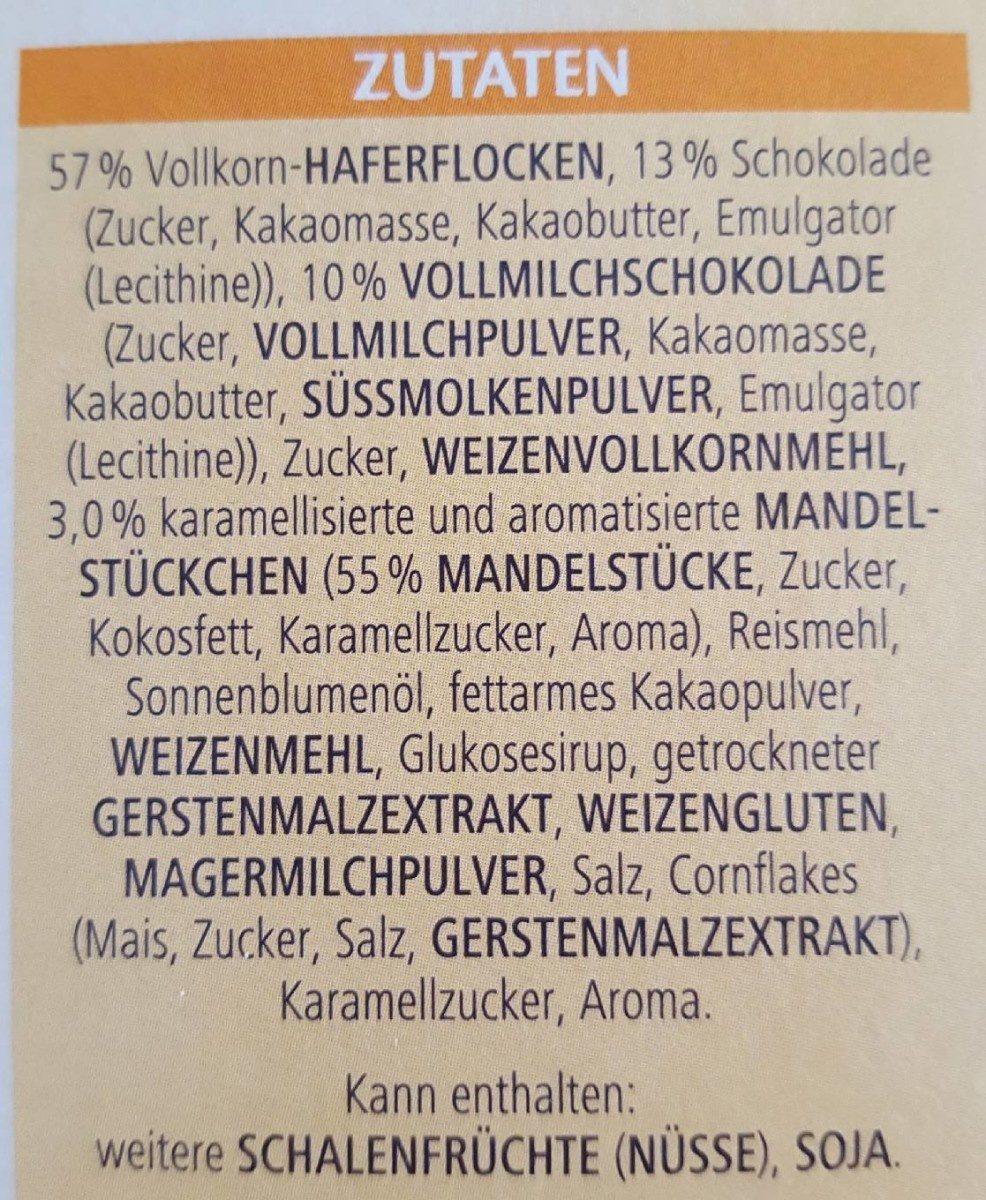 Vitalis Schoko Müsli klassisch - Ingrédients - fr