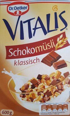 Vitalis Schoko Müsli klassisch - Nutrition facts - de