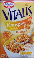 Vitalis Müsli, Knusper Honeys 0,6 KG Pro Packung - Produit - fr