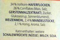 Vitalis Knusper Müsli Flakes + Mandeln - Ingrediënten - de
