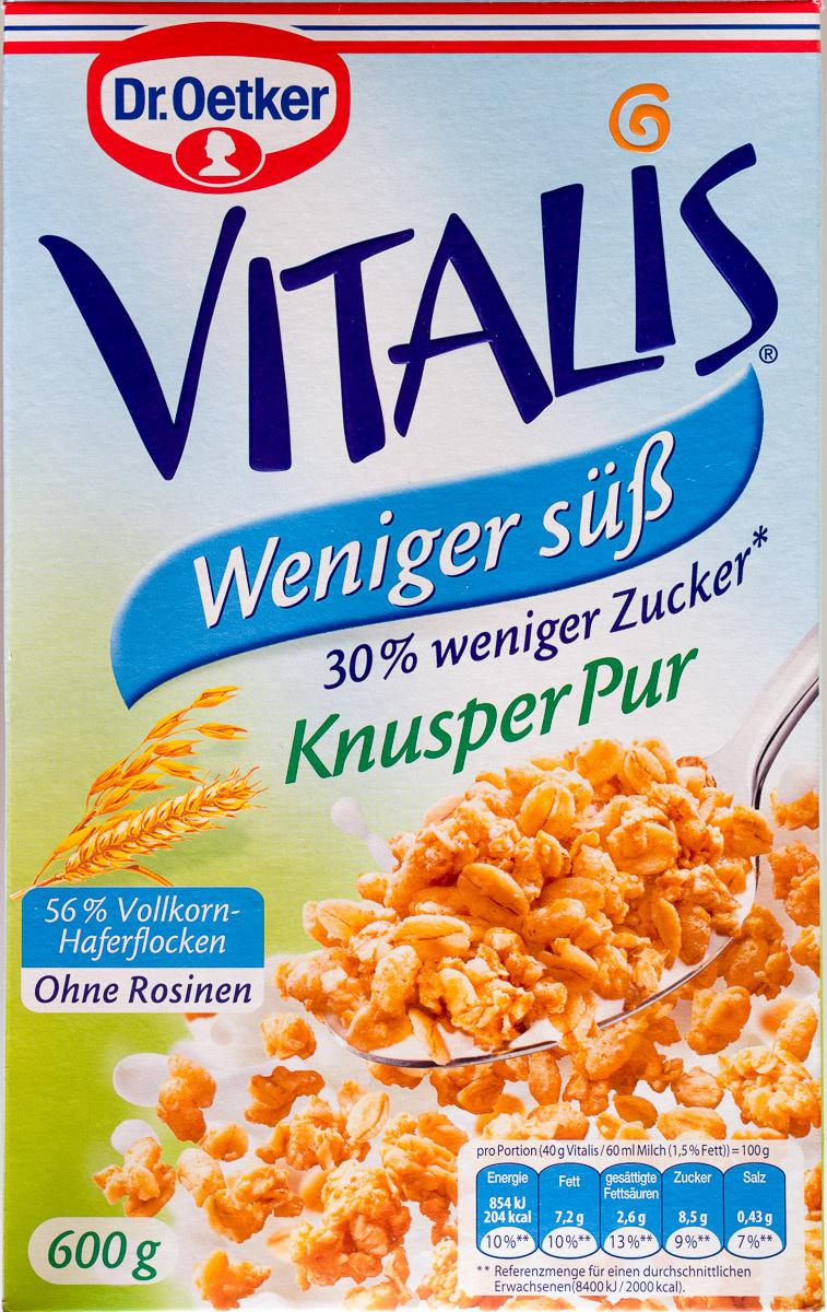Vitalis Weniger süß Knusper Pur - Produit - de