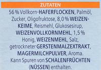 Vitalis Weniger süß Knusper Pur - Ingrédients - de