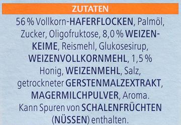 Vitalis Weniger süß Knusper Pur - Ingrédients