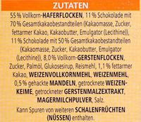Vitalis Schoko Müsli feinherb - Ingrediënten