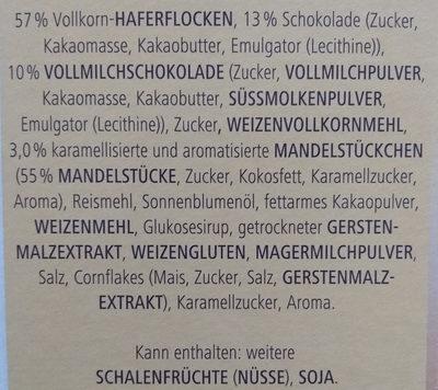 Vitalis Schoko Müsli klassisch - Ingrediënten - de