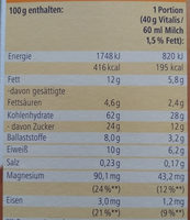 Vitalis Schoko Müsli klassisch - Voedingswaarden - de