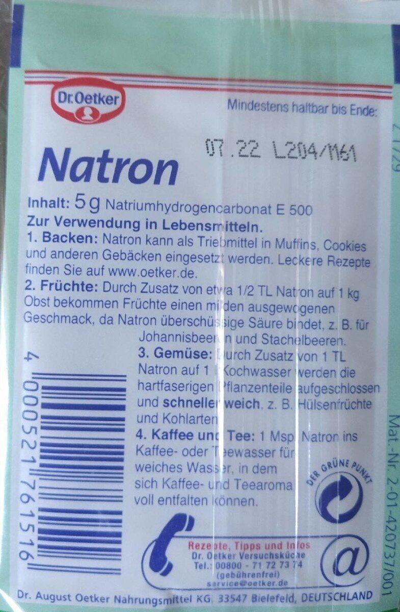 Natron - Voedingswaarden - de