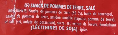 Pom Bär original - Snack de pommes de terre, salé - Ingrédients - fr