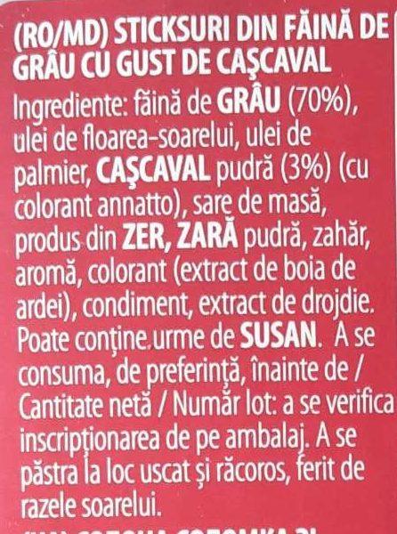 Stickletti - Ingrediënten