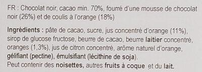 Orange mousse 70% - Ingrédients - fr