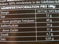 Lindor Dunkel 60% - Ingrédients - fr