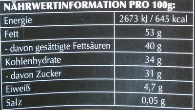 Lindor Dunkel 60% - Informations nutritionnelles